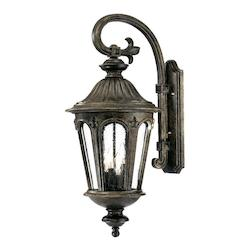Acclaim Lighting Four Light Black Coral Wall Lantern