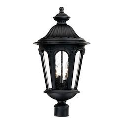 Acclaim Lighting Four Light Matte Black Post Light
