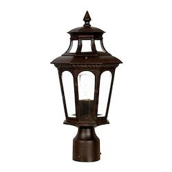 Acclaim Lighting One Light Marbleized Mahogany Post Light