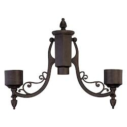 Acclaim Lighting Black Coral Post Adaptor