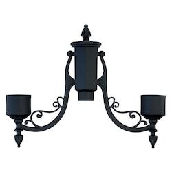 Acclaim Lighting Matte Black Post Adaptor
