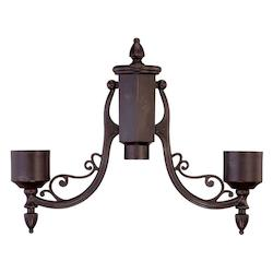 Acclaim Lighting Marbleized Mahogany Post Adaptor