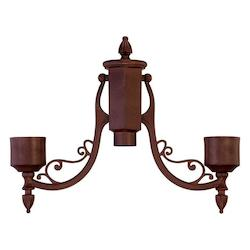 Acclaim Lighting Burled Walnut Post Adaptor