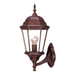 Acclaim Lighting Richmond Collection Wall-Mount 1-Light Outdoor Burled Walnut Light Fixture