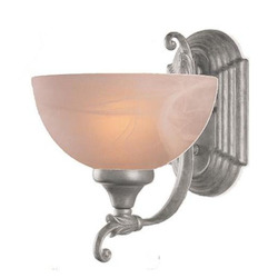 Crystorama Satin Brass 1 Light Wall Sconce with Glass shade