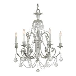Crystorama Olde Silver Regis 1 Light Chandelier