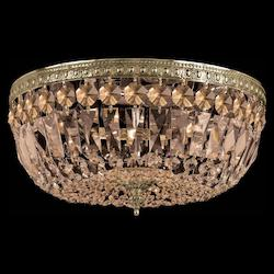 Crystorama Aged Brass Richmond 3 Light Flush Mount Ceiling Fixture