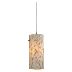 ELK Lighting Capri 1 Light Pendant In Satin Nickel