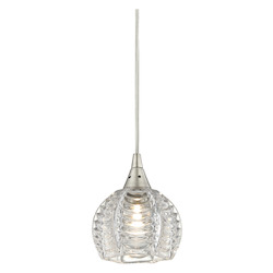 ELK Lighting Kersey 1 Light Pendant In Satin Nickel