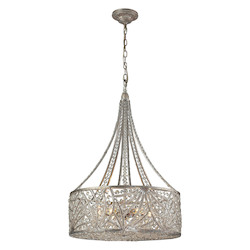 ELK Lighting Renaissance 6 Light Pendant In Sunset Silver