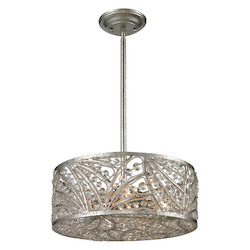 ELK Lighting Renaissance 4 Light Semi Flush In Sunset Silver