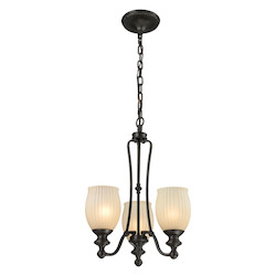 ELK Lighting Park Ridge 3 Light Chandelier In Oil Rubbed Bronze