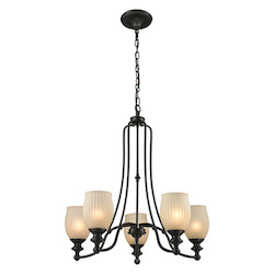ELK Lighting Park Ridge 5 Light Chandelier In Oil Rubbed Bronze