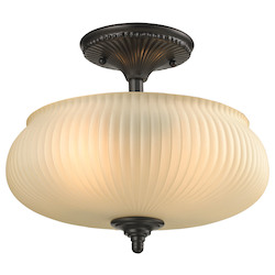 ELK Lighting Park Ridge 2 Light Semi Flush In Oil Rubbed Bronze