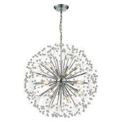 ELK Lighting Starburst 16 Light Chandelier In Polished Chrome