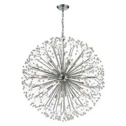 ELK Lighting Starburst 19 Light Chandelier In Polished Chrome
