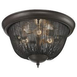 ELK Lighting Pesaro 3 Light Flushmount In Oil Rubbed Bronze