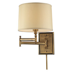 ELK Lighting Swingarm 1 Light Swingarm In Brushed Antique Brass