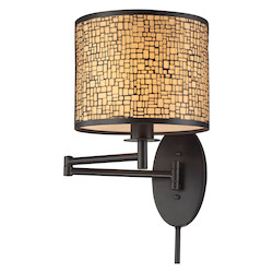 ELK Lighting Medina 1 Light Swingarm In Oil Rubbed Bronze