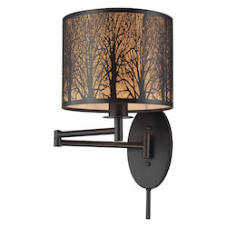 ELK Lighting Woodland Sunrise 1 Light Swingarm In Oil Rubbed Bronze