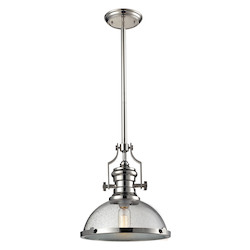 ELK Lighting Chadwick 1 Light Pendant In Polished Nickel