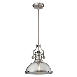 ELK Lighting Chadwick 1 Light Pendant In Satin Nickel