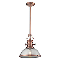 ELK Lighting Chadwick 1 Light Pendant In Copper
