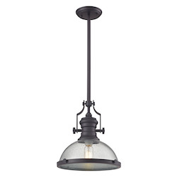 ELK Lighting Chadwick 1 Light Pendant In Oil Rubbed Bronze