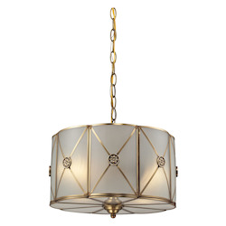 ELK Lighting Preston 2 Light Pendant In Brushed Brass
