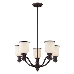 ELK Lighting 5 Light Chandelier In Oiled Bronze
