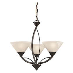 ELK Lighting 3 Light Chandelier In Oil Rubbed Bronze