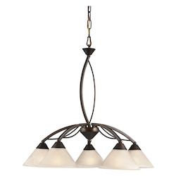ELK Lighting 5 Light Chandelier In Oil Rubbed Bronze