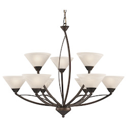 ELK Lighting 9 Light Chandelier In Oil Rubbed Bronze