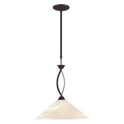 ELK Lighting 1 Light Pendant In Oil Rubbed Bronze