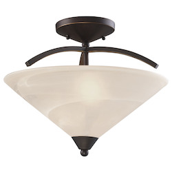 ELK Lighting 2 Light Semi Flush In Oil Rubbed Bronze