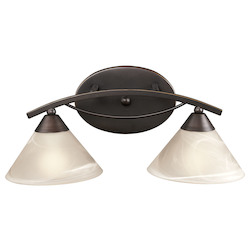 ELK Lighting 2 Light Vanity In Oil Rubbed Bronze