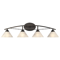ELK Lighting 4 Light Vanity In Oil Rubbed Bronze