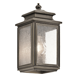 Kichler Olde Bronze Wiscombe Park 1 Light 12.25In. Outdoor Wall Light