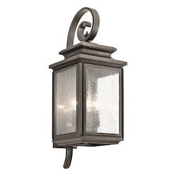 Kichler Olde Bronze Wiscombe Park 4 Light 26.25In. Outdoor Wall Light