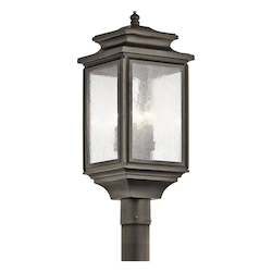 Kichler Olde Bronze Wiscombe Park 4 Light Outdoor Post Light