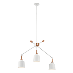 Kichler Open Box White Danika Chandelier With 3 Lights - 36 Inches Wide
