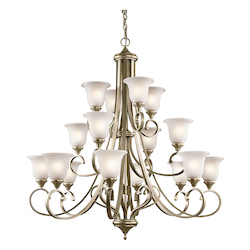 Kichler 12 Light Chandelier With Silver Finish