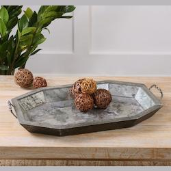 Uttermost Mirte Antiqued Glass Tray