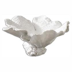 Uttermost Textured White Ali Sculptural Object