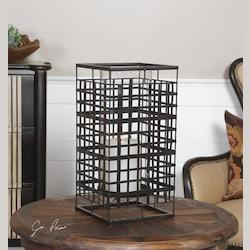 Uttermost Caged In Metal Candleholder