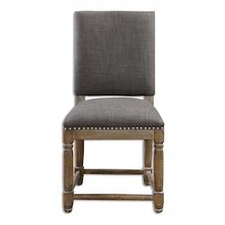 Uttermost Weathered Gray Laurens Fabric Chair Designed By Matthew Williams
