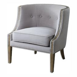Uttermost Light Gray Woven Polyester Gamila Fabric Chair Designed By Carolyn Kinder