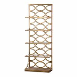 Uttermost Lustrous Gold Leaf Lashaya Shelf Designed By Grace Feyock