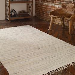 Uttermost Off White And Blue 5 X 8 Stockton Hand Woven Denim Rug
