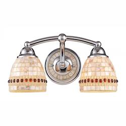 ELK Lighting Roxana 2-Light Bath Bar In Polished Chrome